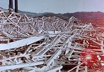 Image of steel frame building destroyed Nagasaki Japan, 1946, second 5 stock footage video 65675037804