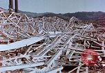 Image of steel frame building destroyed Nagasaki Japan, 1946, second 7 stock footage video 65675037804