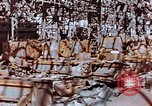 Image of wrecked steel frame Nagasaki Japan, 1946, second 8 stock footage video 65675037806