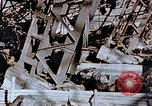 Image of wrecked steel frame Nagasaki Japan, 1946, second 9 stock footage video 65675037807