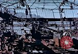 Image of wrecked steel frame Nagasaki Japan, 1946, second 1 stock footage video 65675037808