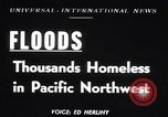 Image of heavy floods Vanport Oregon USA, 1948, second 1 stock footage video 65675037845