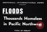Image of heavy floods Vanport Oregon USA, 1948, second 2 stock footage video 65675037845