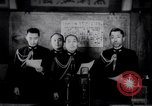 Image of Japanese admirals appeal by radio to defense workers Japan, 1944, second 1 stock footage video 65675037851