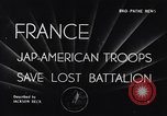 Image of 442nd Combat Team France, 1944, second 1 stock footage video 65675037895
