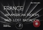 Image of 442nd Combat Team France, 1944, second 2 stock footage video 65675037895