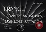 Image of 442nd Combat Team France, 1944, second 3 stock footage video 65675037895