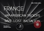 Image of 442nd Combat Team France, 1944, second 4 stock footage video 65675037895