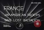 Image of 442nd Combat Team France, 1944, second 5 stock footage video 65675037895