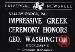 Image of Greek Orthodox ceremony honoring George Washington Valley Forge Pennsylvania USA, 1941, second 5 stock footage video 65675037919