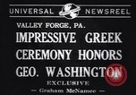Image of Greek Orthodox ceremony honoring George Washington Valley Forge Pennsylvania USA, 1941, second 6 stock footage video 65675037919