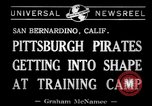Image of Pittsburgh Pirates San Bernardino California USA, 1941, second 2 stock footage video 65675037921