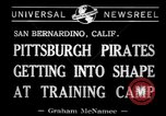 Image of Pittsburgh Pirates San Bernardino California USA, 1941, second 6 stock footage video 65675037921