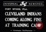 Image of Cleveland Indians baseball team in Spring training Fort Myers Florida USA, 1941, second 3 stock footage video 65675037922