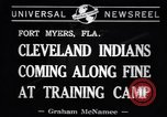 Image of Cleveland Indians baseball team in Spring training Fort Myers Florida USA, 1941, second 5 stock footage video 65675037922