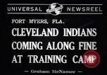 Image of Cleveland Indians baseball team in Spring training Fort Myers Florida USA, 1941, second 7 stock footage video 65675037922