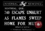 Image of fire fighters Montreal Quebec Canada, 1941, second 3 stock footage video 65675037923