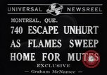 Image of fire fighters Montreal Quebec Canada, 1941, second 7 stock footage video 65675037923