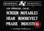 Image of Franklin Roosevelt Los Angeles California USA, 1941, second 3 stock footage video 65675037924