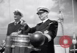 Image of George Arida with Hitler's Aviso Grille yacht New York United States USA, 1949, second 12 stock footage video 65675037927
