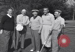 Image of Bing Crosby leads companions singing on golf course Washington DC USA, 1956, second 4 stock footage video 65675037953