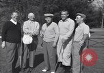Image of Bing Crosby leads companions singing on golf course Washington DC USA, 1956, second 5 stock footage video 65675037953