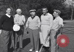 Image of Bing Crosby leads companions singing on golf course Washington DC USA, 1956, second 7 stock footage video 65675037953