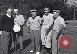 Image of Bing Crosby leads companions singing on golf course Washington DC USA, 1956, second 9 stock footage video 65675037953