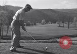 Image of Bing Crosby and Ben Hogan play golf White Sulphur Springs West Virginia USA, 1956, second 2 stock footage video 65675037954