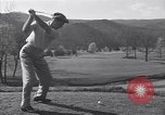 Image of Bing Crosby and Ben Hogan play golf White Sulphur Springs West Virginia USA, 1956, second 4 stock footage video 65675037954