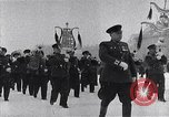 Image of Soviet and American soldiers Moscow Russia Soviet Union, 1945, second 9 stock footage video 65675038019