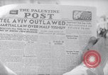 Image of British impose Martial Law in Eretz Israel Tel Aviv Palestine, 1947, second 1 stock footage video 65675038028