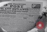 Image of British impose Martial Law in Eretz Israel Tel Aviv Palestine, 1947, second 3 stock footage video 65675038028