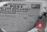 Image of British impose Martial Law in Eretz Israel Tel Aviv Palestine, 1947, second 4 stock footage video 65675038028