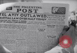 Image of British impose Martial Law in Eretz Israel Tel Aviv Palestine, 1947, second 5 stock footage video 65675038028