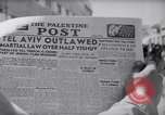 Image of British impose Martial Law in Eretz Israel Tel Aviv Palestine, 1947, second 6 stock footage video 65675038028