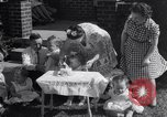 Image of first birthday of Nancy Gayle born to dwarf parents Austin Texas USA, 1950, second 4 stock footage video 65675038032