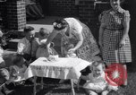 Image of first birthday of Nancy Gayle born to dwarf parents Austin Texas USA, 1950, second 10 stock footage video 65675038032