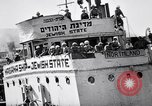 Image of Jewish refugees arrive at Haifa Palestine Palestine, 1947, second 11 stock footage video 65675038056