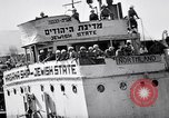 Image of Jewish refugees arrive at Haifa Palestine Palestine, 1947, second 12 stock footage video 65675038056