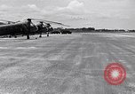 Image of CH-21 helicopters of 121st Aviation Company Soc Trang Vietnam, 1963, second 12 stock footage video 65675038154