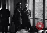Image of Von Rundstedt and Rommel tour Atlantic Wall France, 1944, second 2 stock footage video 65675038198