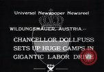 Image of Chancellor Dollfuss Wildungsmauer Austria, 1933, second 1 stock footage video 65675038325