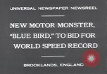 Image of Malcolm Campbell and Bluebird motorcar Brooklands England, 1931, second 2 stock footage video 65675038348