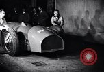 Image of Malcolm Campbell and Bluebird motorcar Brooklands England, 1931, second 4 stock footage video 65675038348