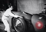 Image of Malcolm Campbell and Bluebird motorcar Brooklands England, 1931, second 7 stock footage video 65675038348