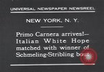 Image of Primo Carnera New York United States USA, 1931, second 2 stock footage video 65675038350