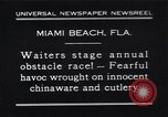 Image of waiters Miami Florida USA, 1931, second 1 stock footage video 65675038353