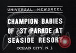 Image of annual baby parade Ocean City New Jersey USA, 1937, second 6 stock footage video 65675038357