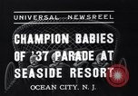 Image of annual baby parade Ocean City New Jersey USA, 1937, second 7 stock footage video 65675038357